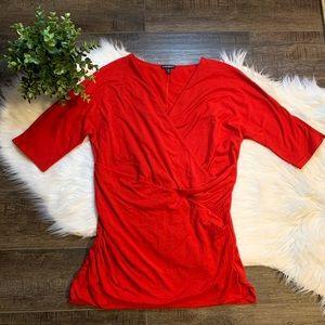 Express faux wrap blouse